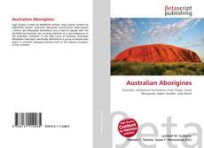 Bookcover of Australian Aborigines