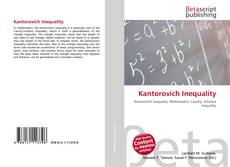 Bookcover of Kantorovich Inequality