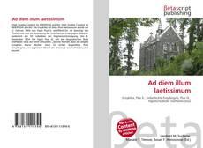 Bookcover of Ad diem illum laetissimum