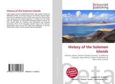 Обложка History of the Solomon Islands