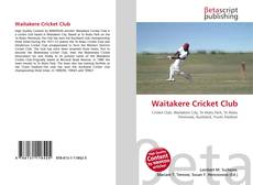 Bookcover of Waitakere Cricket Club