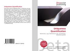 Copertina di Uniqueness Quantification