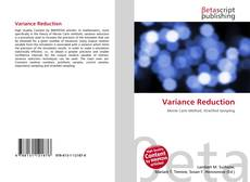 Capa do livro de Variance Reduction