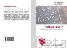 Bookcover of Algebraic Solution