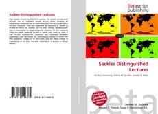 Обложка Sackler Distinguished Lectures