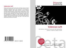 Bookcover of Valencian Left