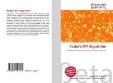 Capa do livro de Rader's FFT Algorithm