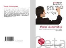 Обложка Degree (mathematics)