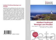 Borítókép a  Adalbert Ferdinand Berengar von Preußen - hoz