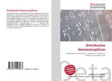 Bookcover of Distributive Homomorphism