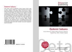 Özdemir Sabancı kitap kapağı