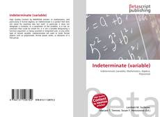 Bookcover of Indeterminate (variable)