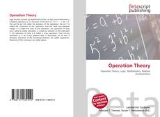 Bookcover of Operation Theory