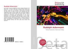 Bookcover of Rudolph Ackermann