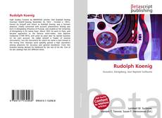Buchcover von Rudolph Koenig