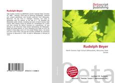 Bookcover of Rudolph Beyer