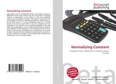 Bookcover of Normalizing Constant