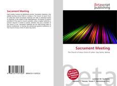 Обложка Sacrament Meeting