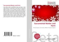 Sacramental Matter and Form kitap kapağı