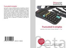 Bookcover of Truncated 6-simplex