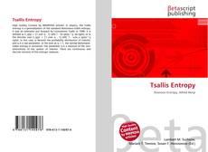 Bookcover of Tsallis Entropy