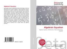 Bookcover of Algebraic Equation