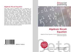 Bookcover of Algebraic Riccati Equation