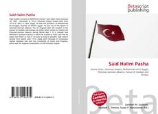 Buchcover von Said Halim Pasha