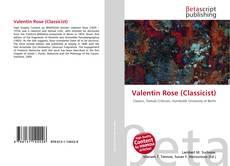 Bookcover of Valentin Rose (Classicist)