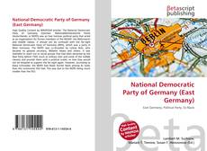 Bookcover of National Democratic Party of Germany (East Germany)