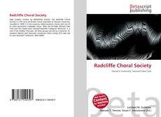 Обложка Radcliffe Choral Society