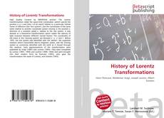 Bookcover of History of Lorentz Transformations