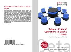 Bookcover of Table of Costs of Operations in Elliptic Curves