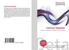 Borítókép a  Sahl ben Matzliah - hoz