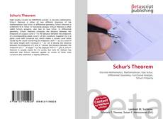 Bookcover of Schur's Theorem