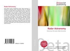 Обложка Radar Astronomy