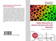 Couverture de Radar (Research on Adverse Drug Events And Reports)