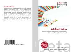 Portada del libro de Adalbert Krims