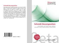 Capa do livro de Schmidt Decomposition
