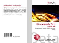 Bookcover of Ultrahyperbolic Wave Equation