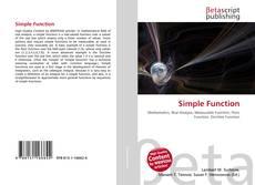 Capa do livro de Simple Function