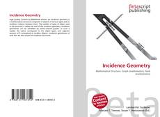 Bookcover of Incidence Geometry