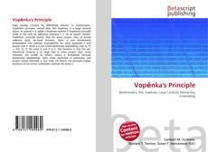 Bookcover of Vopěnka's Principle