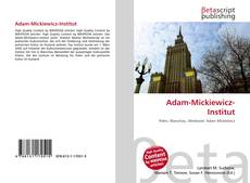 Bookcover of Adam-Mickiewicz-Institut