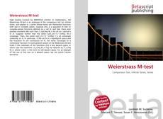 Bookcover of Weierstrass M-test