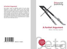 Bookcover of A Fortiori Argument