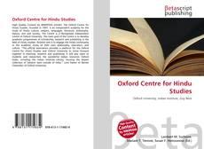 Обложка Oxford Centre for Hindu Studies