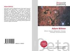 Buchcover von Adam Bittner