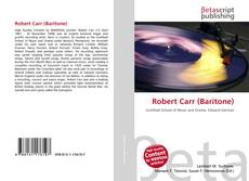 Robert Carr (Baritone)的封面
