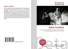 Bookcover of Adam Lambert